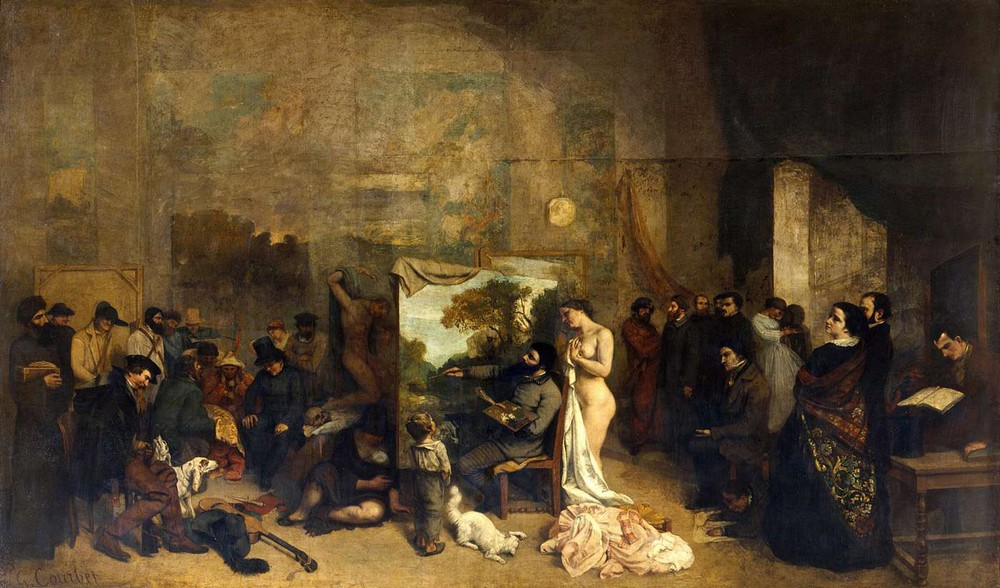 Courbet, LAtelier du peintre, 1854