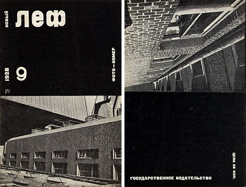 Rodchenko, Front and back covers of the magazine Novyi Lef New Left no. 9, 1928