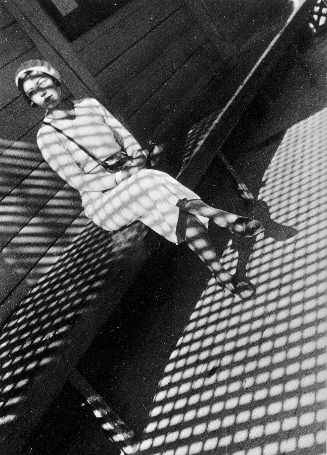 Rodchenko, Girl with a Leica, Evgeniia Lemberg, 1932-33
