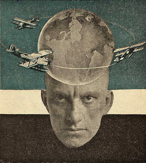 Rodchenko, Photomontage for Vladimir Mayakovskys Conversations with a Tax Collector About Poetry, 1926
