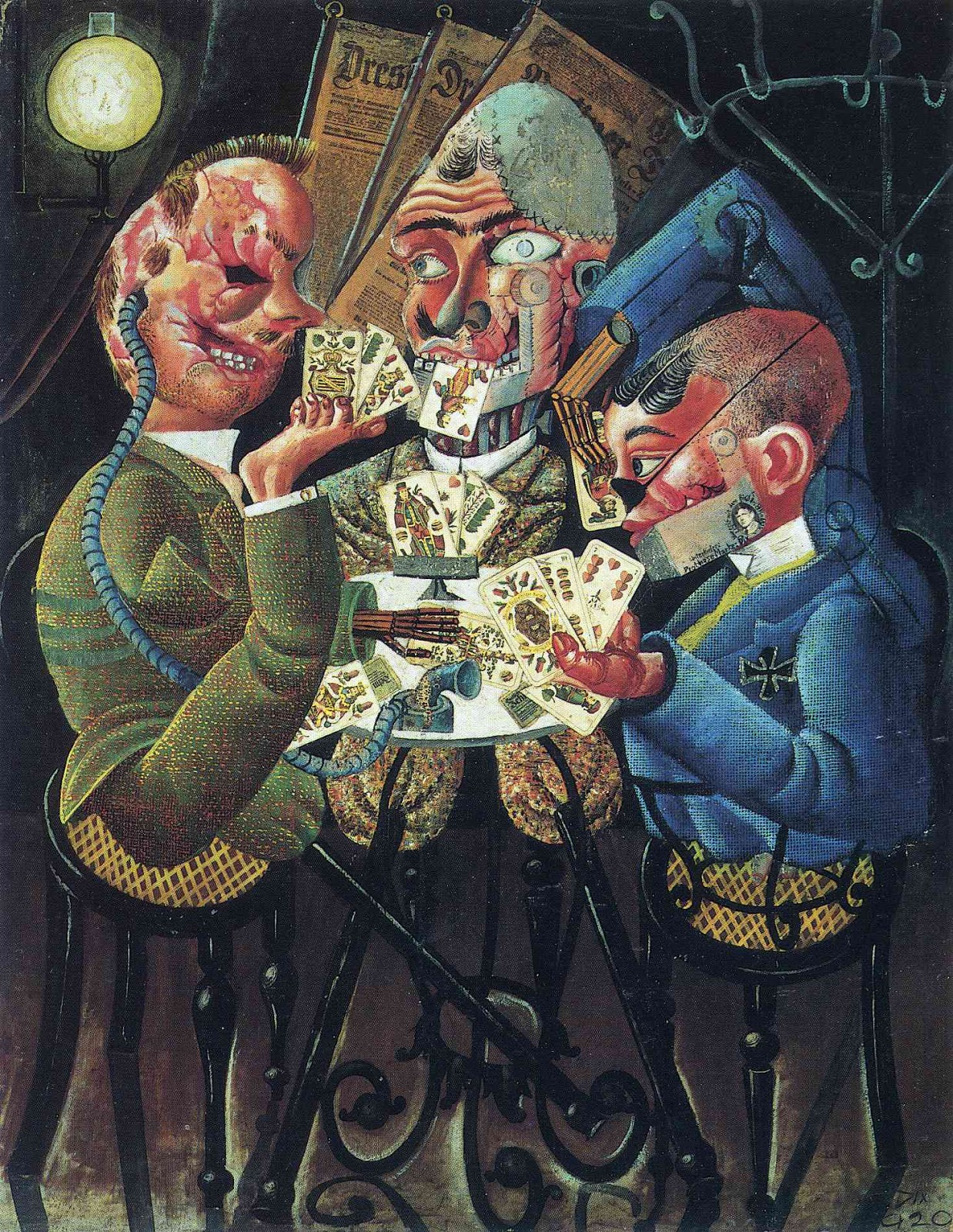 Otto Dix, The Skat Players, 1920