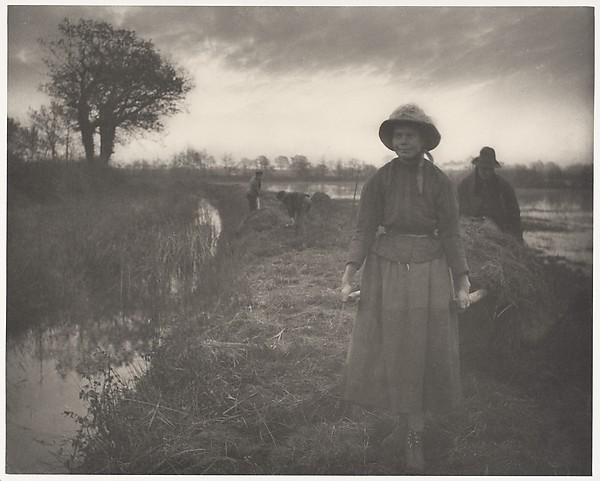 Emerson, Poling the marsh hay, 1886