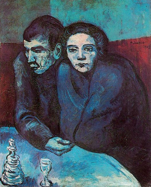 7. Pablo Picasso, Absinthe Drinkers, 1903
