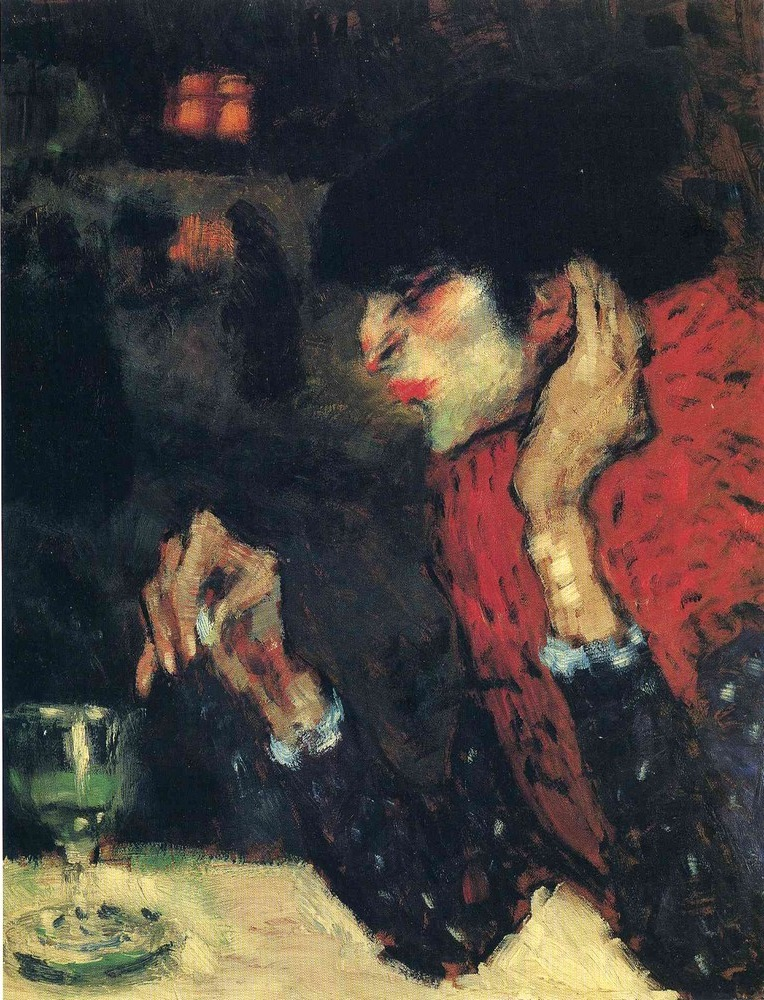 4. Pablo Picasso, The Absinthe Drinker, 1901