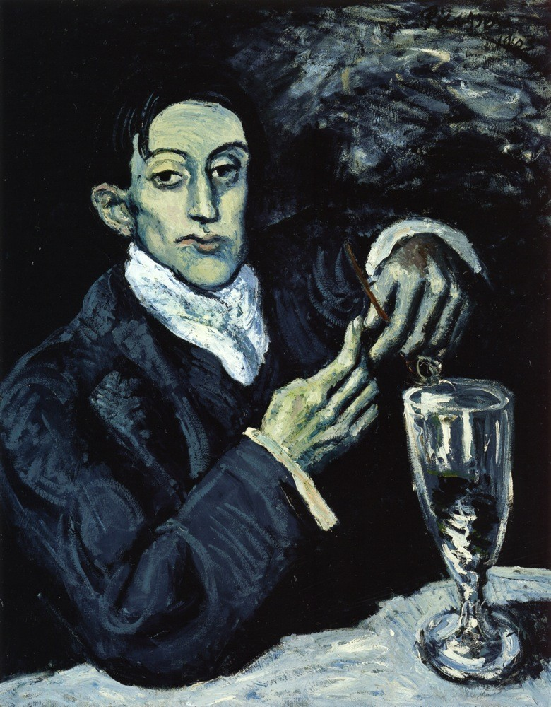 9. Pablo Picasso, The absinth drinker Portrait of Angel Fernandez de Soto, 1903