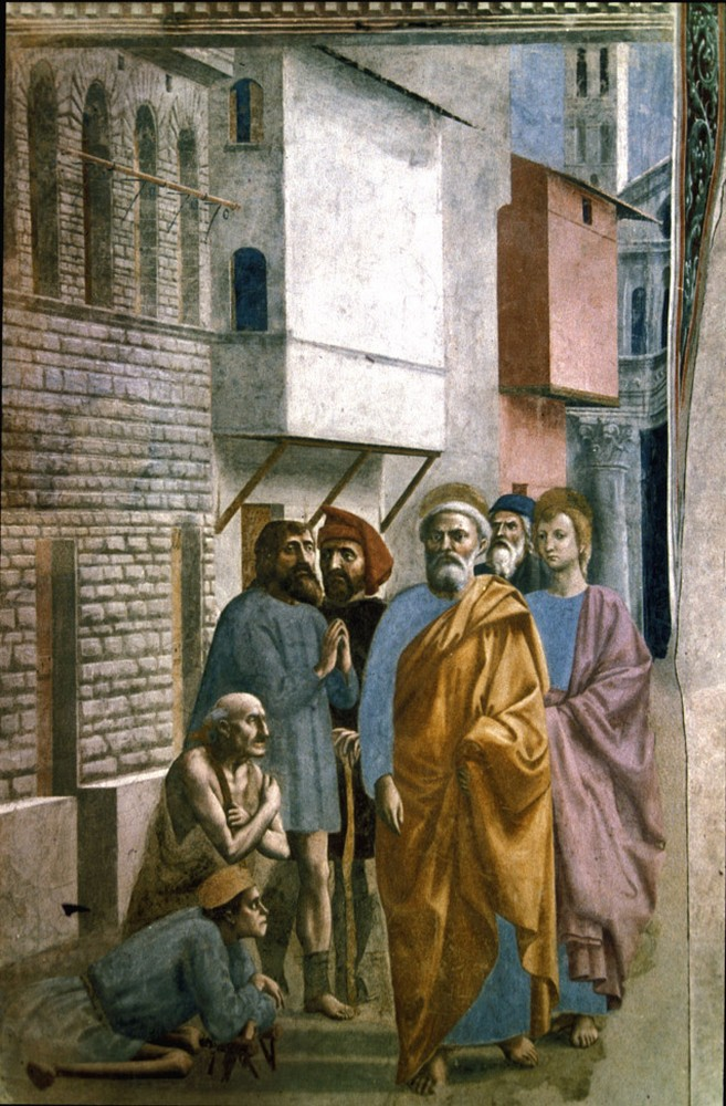 Masaccio St Peter Healing the Sick with his Shadow