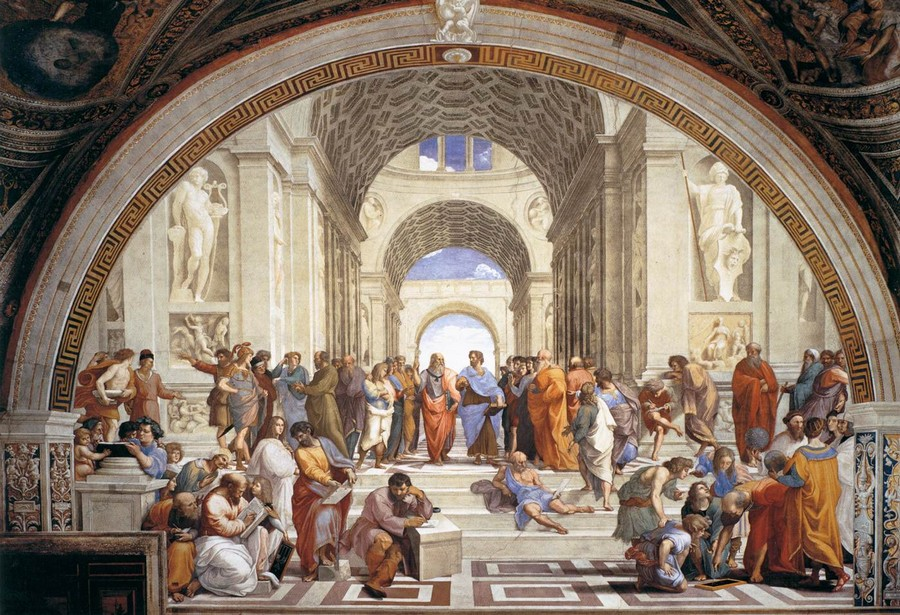 Raffaello, School of Athens, c. 1509-11