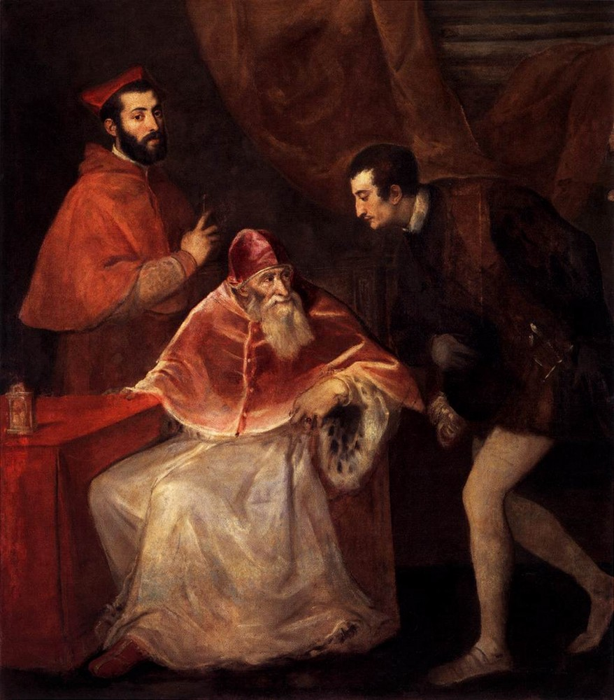 Tiziano, Pope Paul III and his grandsons