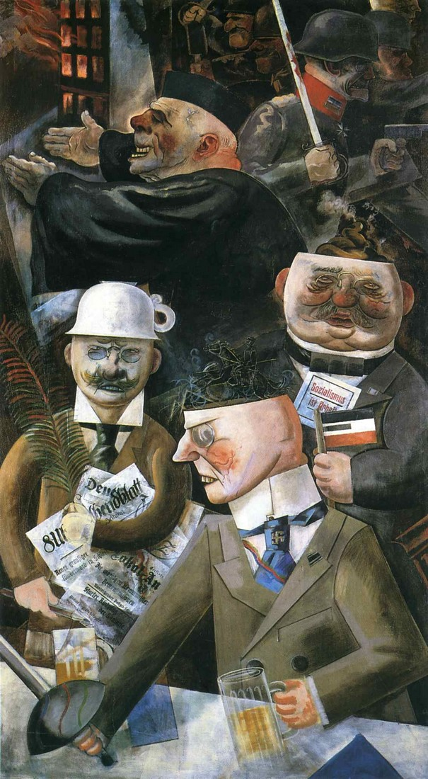 George Grosz, The Pillars of Society, 1926